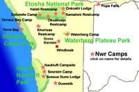 Namibia Map and Accommodation Guide